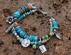 Bead bracelet with charms