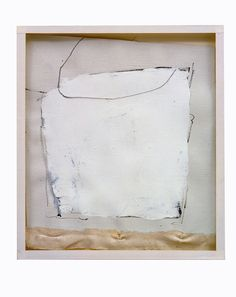 Robert Ryman Untitled, 1957 Casein and graphite on primed and sized unstretched cotton canvas on board on manila paper folder on glass on plywood, Irregular 9 x 8 in. Robert Ryman, A Kind Of Magic, Visual Aesthetics, Contemporary Abstract Art, Op Art, Installation Art, Sculpture Art, Fine Art, Eva Hesse