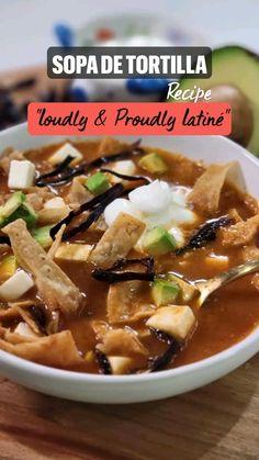 Best Mexican Recipes, Great Recipes, Favorite Recipes, Beef Recipes, Soup Recipes, Cooking Recipes, Work Meals, Tortilla Recipe, Comida Latina