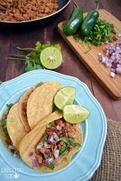 Tacos de carnitas de atún – menos de 15 minutos www.pizcadesabor.com