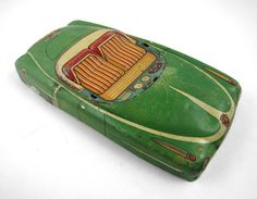 Green Tin Convertible Car by RuggyDesign #green