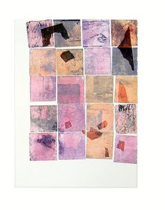 Original Art Multi Plate Etching and Chine Colle Hand Pulled Print Fine Art Printmaking Modern Abstract