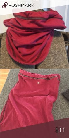 Lulu neck warner Great for running or other outdoor adventures! Fun pink color adds a little pop to your outfit. Bungee closure. lululemon athletica Accessories Scarves & Wraps