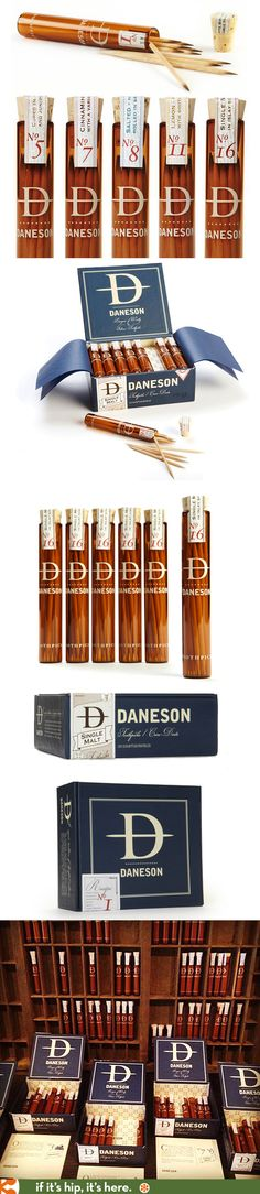 Daneson's Upscale Flavored Toothpicks have luxurious and beautiful packaging.