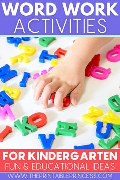 Do you want to step up your word work lessons? These 8 word work activities will make working on words fun and hands-on for your students. Check out these hands-on word work activities and digital word work activities to help students practice sight words, CVC words, CVCe words, blends and digraphs, and more. #iteachk #kindergartenteacher #wordwork #literacylessons