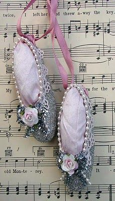 Pretty Posies and Paper Trails: Little Ballet Slippers - Inspired By A Giveaway!