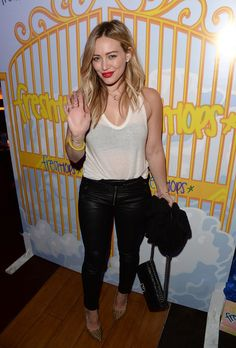 Hilary Duff Actress Hilary Duff  attends the Fresh-Tops #SELENATORHEAVEN Selena Gomez concert viewing party at Hyde Lounge Staples Center at...