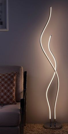 "Tyrol 64 ""LED Stehleuchte - All For Decoration Living Room Decor Set, Living Room Lighting, Living Room Lamps, Bedroom Lamps, Bedroom Lighting, Interior Lighting, Home Lighting, Lighting Ideas, Modern Lighting Design"