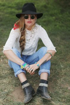 Festival Fashion At Outside Lands 2014 | Free People Blog  Colors and loose braid