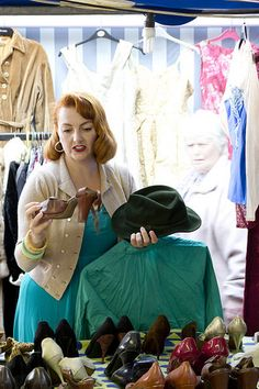 Shoe success at our last Vintage Fayre in Abergavenny's Market Hall. Photo by Simon Wells. Wells, Vintage Shops, The Past, Vintage Fashion, Success, Shoe, Disney Princess, Shopping, Zapatos