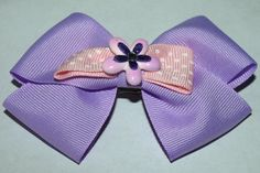 lavender hair bow spring flower accessories Easter by mylittlebows, $6.50