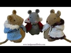 Crochet Cape For Mouse - YouTube
