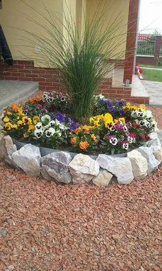 50 Stunning Spring Garden Ideas for Front Yard and Backyard Landscaping - Déco jardin - Rock Garden Design, Garden Landscape Design, Landscape Designs, Landscape Rocks, Landscape Mode, Spring Landscape, Landscape Fabric, Landscape Edging, Landscape Walls