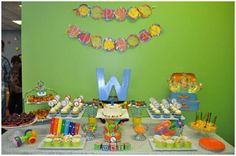 MUSIC THEMED 1ST BIRTHDAY PARTY  Bright colors and musical instruments made this first birthday a SMASH HIT! Mint Daisy Design Studio owner Xiomara Roman recently styled this festive + colorful soiree for her son's first birthday party! Read on for all the details!