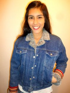 Denim jacket Aztec by CasualD on Etsy, $89.00