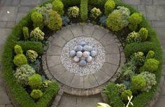Circular garden spot