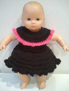 Round Neck Crocheted Bitty Baby Dress by Holderman Handmade