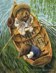 "Ratty and Mole - ""Messing About"" by Chris Dunn Illustration/Fine Art: Gallery"