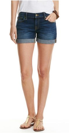 Put more fun in your summer with a pair of Vineyard Vines Cuffed Dark Wash Denim Shorts in Blue Moon that always look and feel just right. · 91% cotton, 6% polyester, 3% elastane · Signature hardware