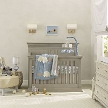 Shop for Lambs & Ivy Signature Elephant Tales Blue/Gray/White Stripe Nursery Baby Crib Bedding Set. Get free delivery On EVERYTHING* Overstock - Your Online Baby Bedding Shop! Baby Crib Bumpers, Bumper Pads For Cribs, Baby Crib Bedding Sets, Nursery Crib, Crib Sets, Baby Nursery Decor, Baby Cribs, Nursery Ideas, Room Ideas