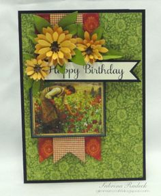 **Great Idea for Using any Photos** Aspiring to Creativity: French Country Birthday Card