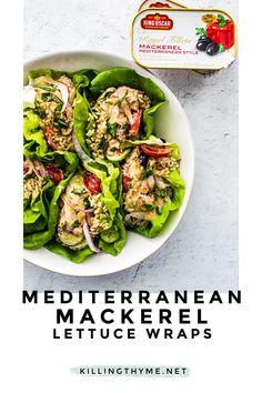 Salad Recipes Gluten Free, Heart Healthy Recipes, Healthy Salad Recipes, Whole Food Recipes, Clean Eating Salads, Healthy Eating, Thyme Recipes, Lean Protein, Lettuce Wraps