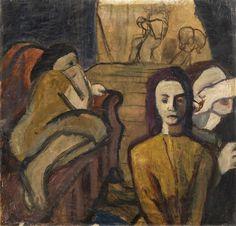 Nikolai Sinezouboff (1891-1956), Theatrical Scene, Oil on paper, laid on cardboard; 65.5 x 69 cm