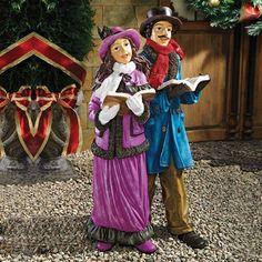 Basil Street Gallery EU9319 Victorian Holiday Carolers Statue