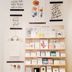 Curious how the storefront is shaping up? The grand opening is only a few weeks away! Follow @Moorea Seal on Instagram for sneak peeks, like this shot of our paper goods display :)