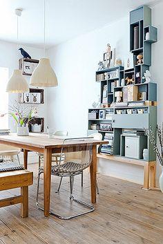 Clever DIY Display Unit + Lovely Dutch Home via Decor8