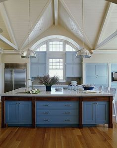 the nautical kitchen by Sherrill Canet Interiors  I want to live in this kitchen!
