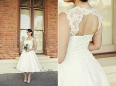 some day, i will wear a tea length lace wedding dress. :)