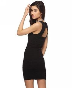 WOMEN FOREVER 21 ribbed cut out dress NWT L