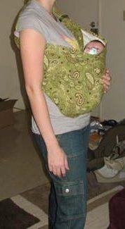 Baby Sling Tutorial  http://www.sleepingbaby.net/jan/Baby/tubesling.html
