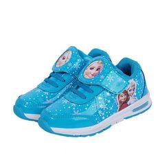 0b99f100bde4e Elsa shoes Girls shoes Cartoon Brand Elsa Anna Kids Sneakers Snow Queen  Shoes For Girls Sports