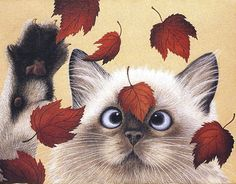 Erin Martin by Lowell Herrero Cats Kitty Fall Autumn Prin. Cute Kittens, Cats And Kittens, Cross Eyed Cat, Erin Martin, Image Chat, Gatos Cats, All About Cats, Cat Drawing, Siamese Cats