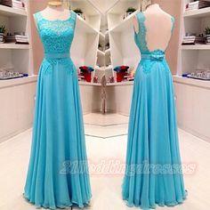 Elegant Simple Lace Long Open Back Prom Dresses,Evening Dresses,Party Prom Dresses http://21weddingdresses.storenvy.com/products/16423614-open-back-long-prom-dresses-simple-a-line-evening-dresses-for-teens