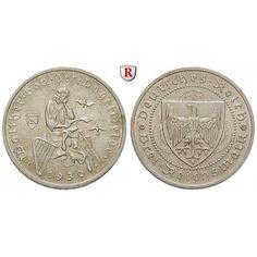 Weimarer Republik, 3 Reichsmark 1930, Vogelweide, A, f.st, J. 344: 3 Reichsmark 1930 A. Vogelweide. J. 344; fast stempelfrisch,… #coins