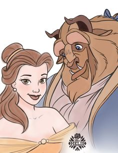 two of smaller pieces merged together Beauty And The Beast Beauty And The Beast Drawing, Beauty And The Beast Movie, Disney Character Sketches, Cartoon Sketches, Disney Live Action Films, Belle And Beast, Disney Princesses And Princes, Cartoon Design, Disney Fan Art