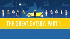"""Like Pale Gold - The Great Gatsby Part I: Crash Course English Literature . John Green recaps The Great Gatsby. See also, Part 2 """"Was Gatsby Great? AND other crash courses in Literature! Crash Course Literature, Teaching Literature, American Literature, English Literature, Teaching Resources, Teaching Ideas, English Language Arts, Ap Language, English Classroom"""