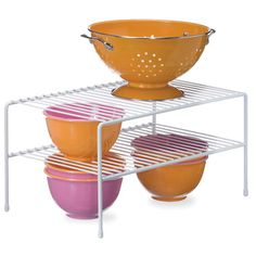Two Tier Wire Shelf - White