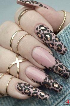 Fancy Nails, Bling Nails, Swag Nails, Gorgeous Nails, Pretty Nails, Leopard Print Nails, Nagellack Design, Nails Inc, Gel Nails