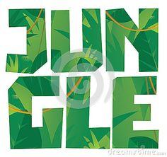 Jungle vegetation word