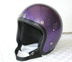 women's purple motorcycle helmets | RESERVED - - Vintage Motorcycle Helmet PURPLE Metal Flake Sparkle