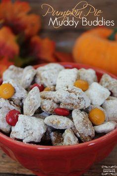 Pumpkin Pie Recipe for Muddy Buddies! Great Fall Food Recipe and Easy Dessert Recipe!