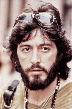 "THIS is the Al Pacino I fell in love with as a teenaged girl back in the day. Al Pacino in ""Serpico"", 1973"