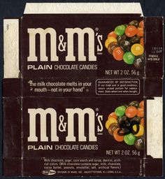 M&Ms when they had tan ones, and they didn't have red ones. (Or blue ones)