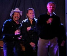 Bono, Larry Mullen Jr and Adam Clayton at the end of the tour / inside U2 Vertigo Tour. Unpublished photos of the tour taken by U2 staff.
