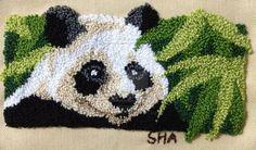 Panda Punch Needle by delalluvia.deviantart.com on @deviantART