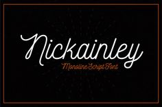 Nickainley-Script-typographie_1